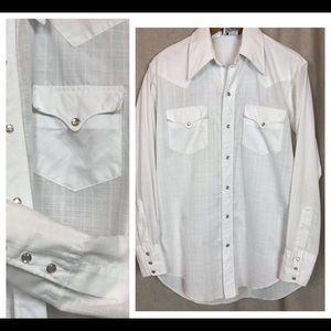 Vintage JCPenney Western Apparel White Shirt